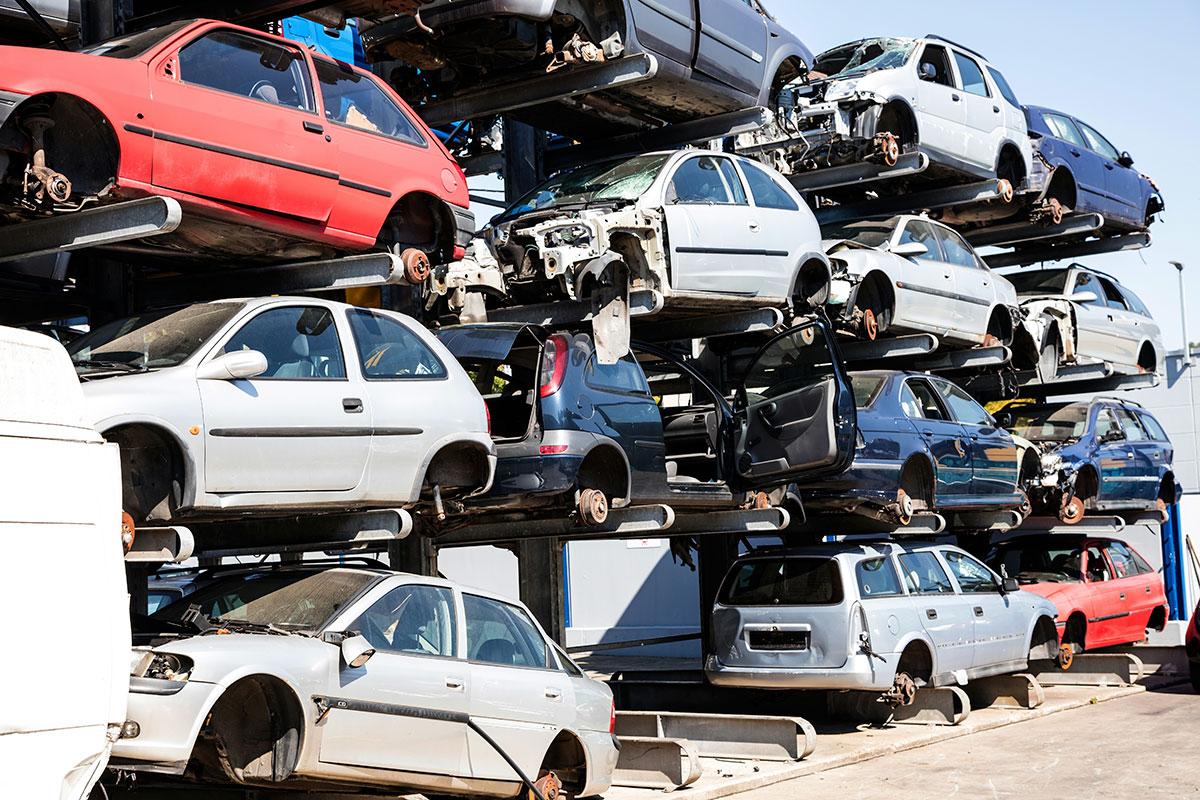 scrap car hull